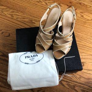 Prada platform heels